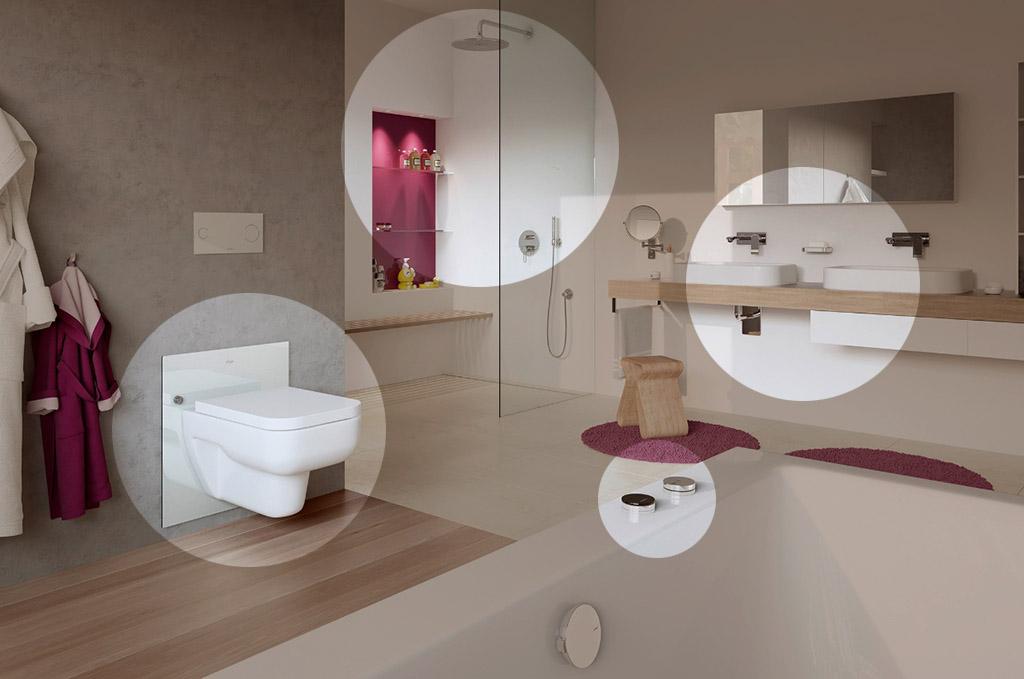 Een badkamer die zich aanpast aan je leeftijd en lengte - Badkamer in lengte ...